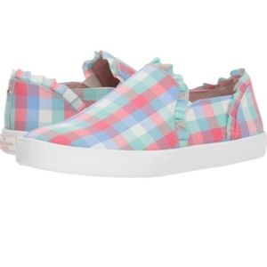 Brand new Kate Spade Lilly plaid slip on sneakers